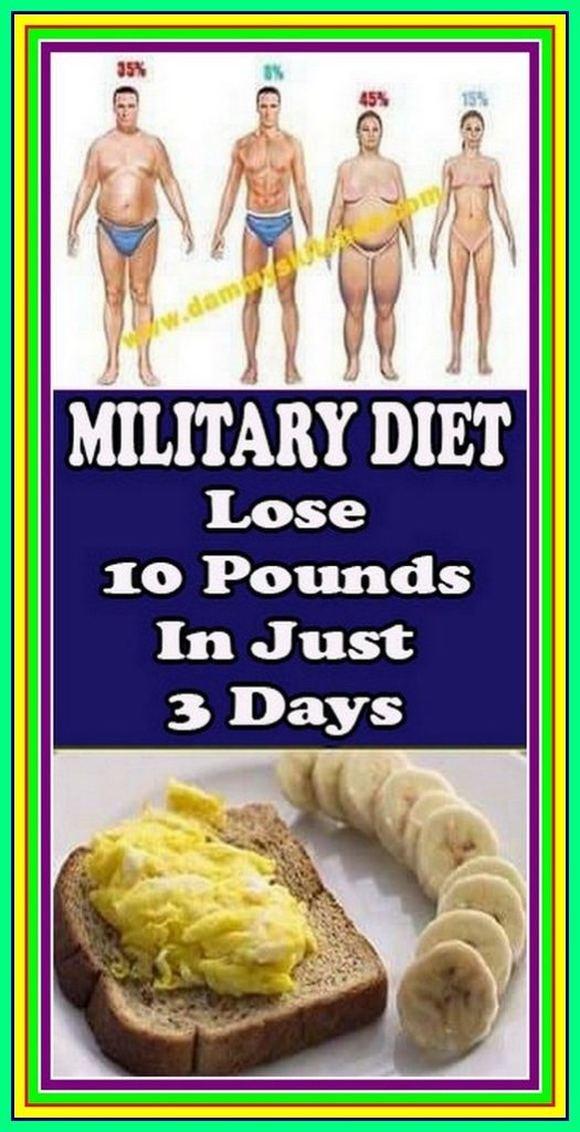 Military Diet: Lose 10 Pounds In Just 3 Days!